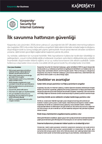 KASPERSKY SECURITY FOR INTERNET GATEWAY - Veri Sayfası