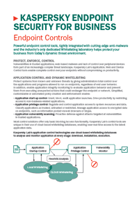 KASPERSKY ENDPOINT SECURITY FOR BUSINESS KONTROL ARAÇLARI - VERİ SAYFASI