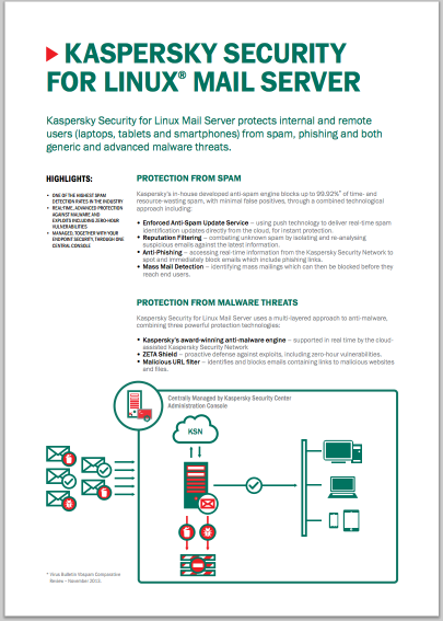 Kaspersky Security for Linux Mail Server - Data Sheet